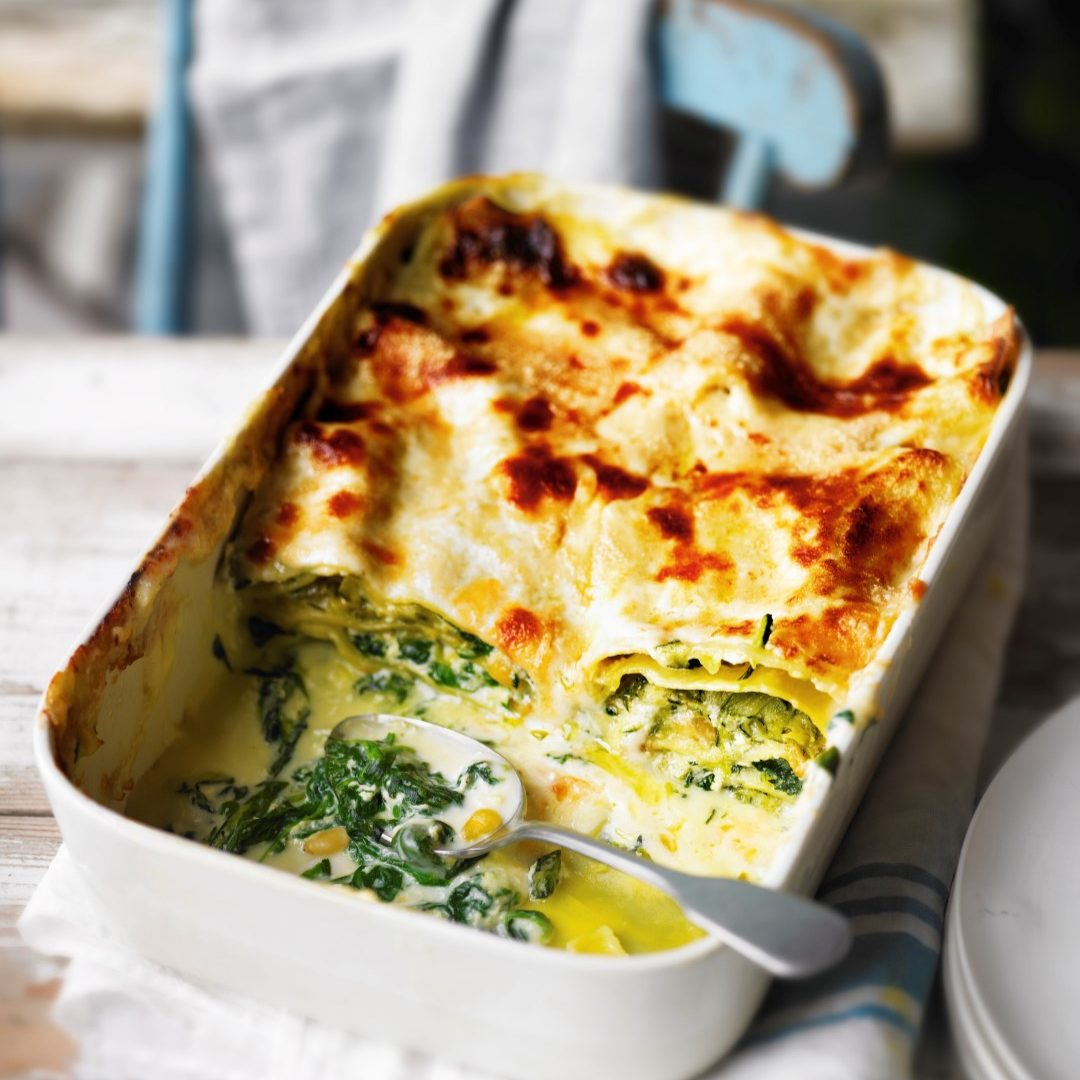 Courgette, spinach & ricotta lasagne recipe